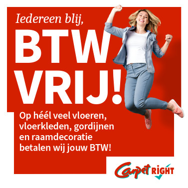 Carpetright - BTW VRIJ