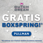 Dutch Dream Slaapcomfort - Gratis boxspring bij 2 Pullman Goldline  Excellence matrassen