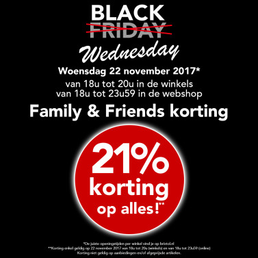 Bristol Shoes & More - Black Wednesday = 21% korting op alles!